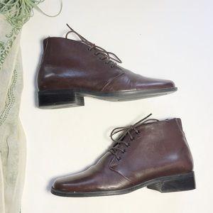 Vintage Easy Spirit Granny Ankle Boots Brown 6 1/2